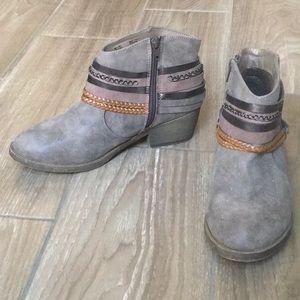 """Gray 2"""" Heel Booties"""
